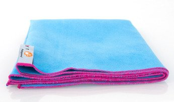 Dr. Bacty Quick Dry Towel S 40x65 cm - blue with pink trim