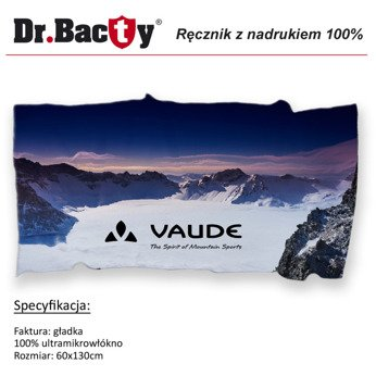 Microfiber Travel Towel for Advertising Printing Dr.Bacty L 60x130 cm
