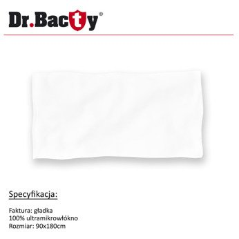 Microfiber beach towel for sublimation printing Dr.Bacty 3XL 90x180 cm