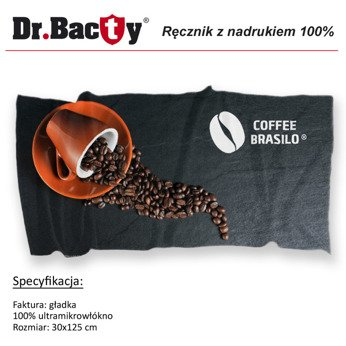 Microfiber sport towel for sublimation printing Dr.Bacty XS 30x125 cm