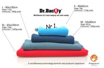 Training towel Dr.Bacty XL slate
