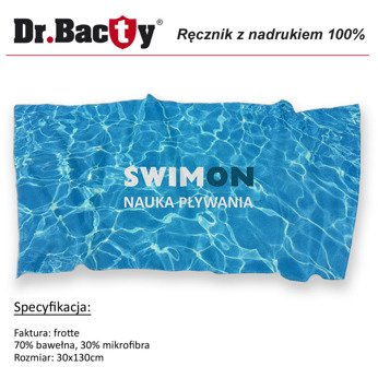 Trainingshandtuch die Print-Werbung Dr.Bacty frotte S 30x130 cm - white